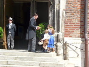 Photo: Prince Charles-Philippe, duke of Anjou with some of the flowerchildren