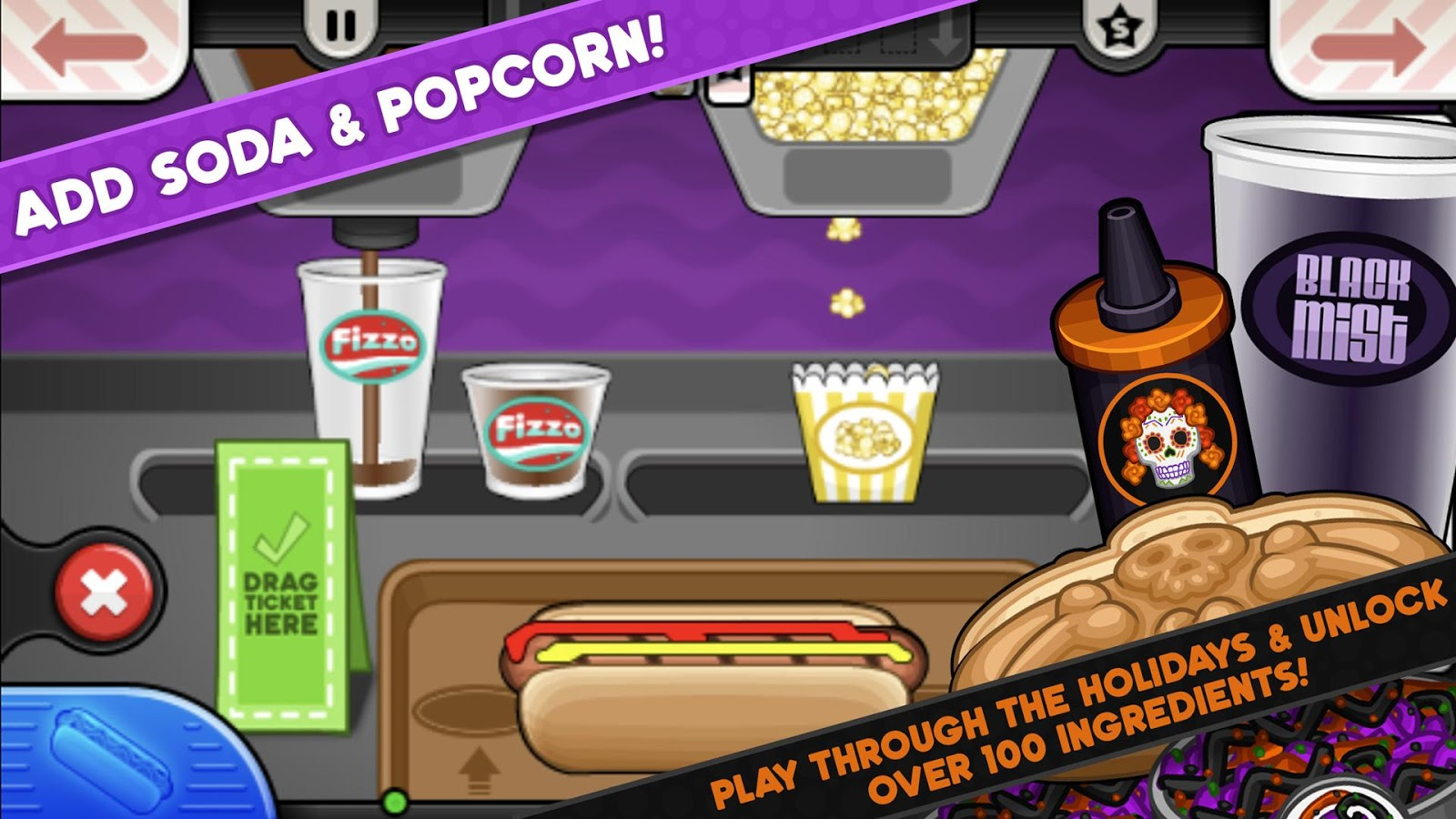 Papa's Hot Doggeria To Go!- screenshot