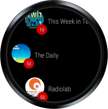 Wear Casts: A podcast player for WearOS watches screenshots 3