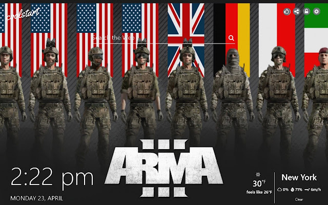 Arma 3 HD Wallpapers Games New Tab Theme