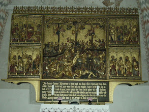 Photo: The alterpiece again, a Catholic alterpiece in a Lutheran church that came six years before the reformation.