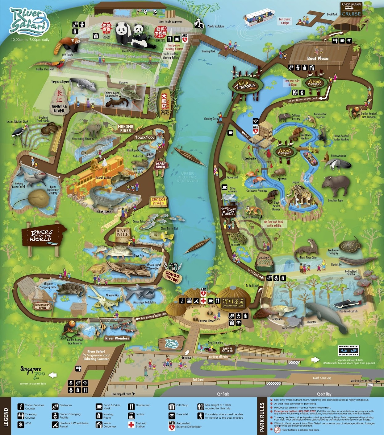 Singapore River Safari map