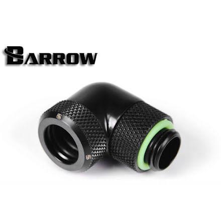 """Barrow røradapter, 90°, 1/4""""BSPxØ12mm, Black"""