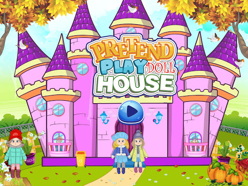 Pretend Play Doll House: Town Family Mansion Fun android2mod screenshots 1