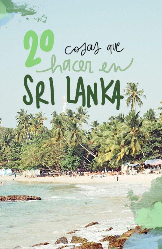 que ver y hacer en Sri Lanka