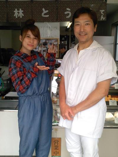 てっぺん静岡の小林豆腐の取材。方言タレントのあゆかさんと小林店主