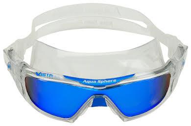 Aqua Sphere Vista Pro Goggles - Transparent w/ Blue Titanium Mirro Lens alternate image 3