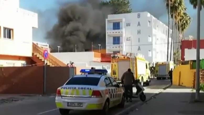 Una explosión provoca un incendio en el Rinconcillo
