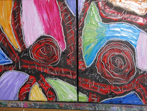 Photo: Blood Wood two paintings Oil 60cmx30 $60