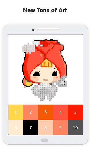 Pixel No.Draw: Color By Number, Art, Coloring Book image   12
