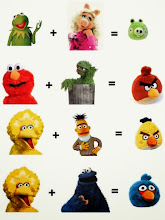 Photo: Yep. That seems about right.  Sesame Street meets Angry Birds.