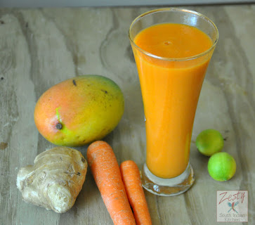 Mango Carrot Apple Smoothie/Strength and Book Reivew