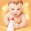 Breast feeding baby schedule tracker icon