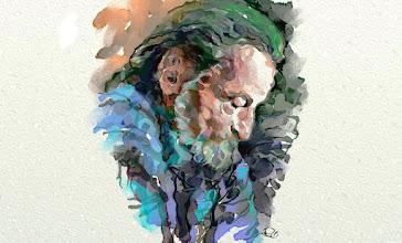 Photo: Skulptorius Donatas Lukoševičius - paskutinis portretas.  Autorius grafikas R. Buivydas, skaitmeninė akvarelė, 2015 m.