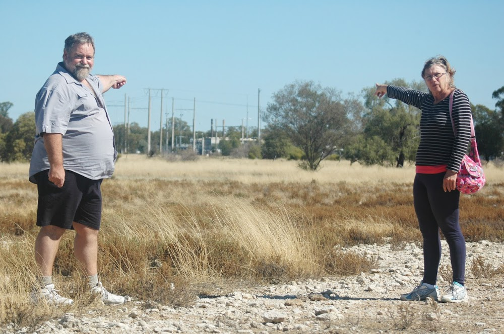 Seeking  a remedy: Philip Hardcastle and his partner Anna Wilczak want Santos to build a noise barrier at the Wilga Park power station so the couple can build a home next door.