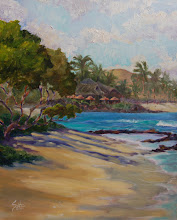 """Photo: """"High Tide at Uluweuweu Bay"""" 16"""" x 20"""" (available from artist)"""