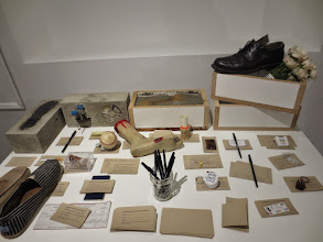 "Photo: Kari Marboe  Detail of ""Concealed Footwear and Associated Deposits"""