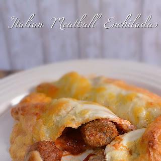 Italian Meatball Enchiladas