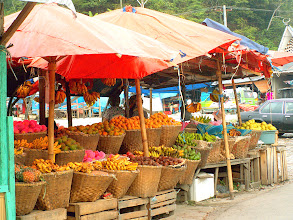 Photo: Parapat - fruit stalls
