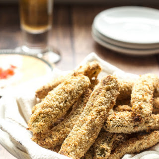 Oven Fried Pickles.