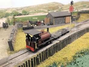 Photo: 023 Garreg Wen features a variety of Victorian era Welsh NG stock, all of which have been very meticulously constructed, as seen by this superb Corris Railway Hughes locomotive in original condition .