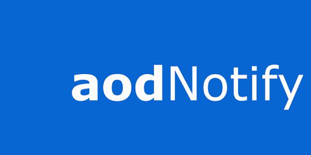 aodNotify - Mostra sempre attiva sulle notifiche