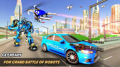Drone Robot Car Transform Robot Transforming games screenshots 3