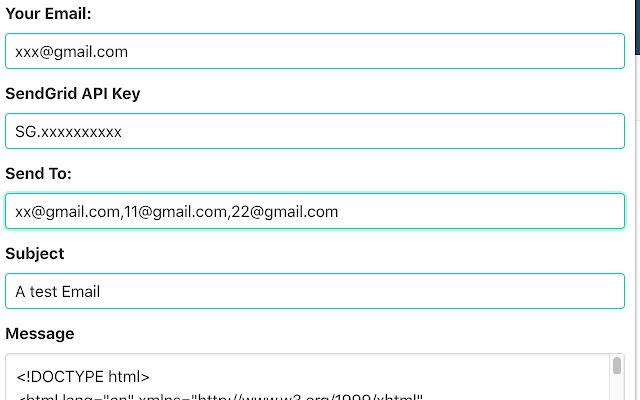 SendGrid Test Email Helper