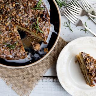 Plum Hazelnut and Rosemary Cake with Earl Grey Gin Glaze
