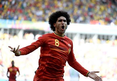 Marouane Fellaini a rejoué...et a même marqué