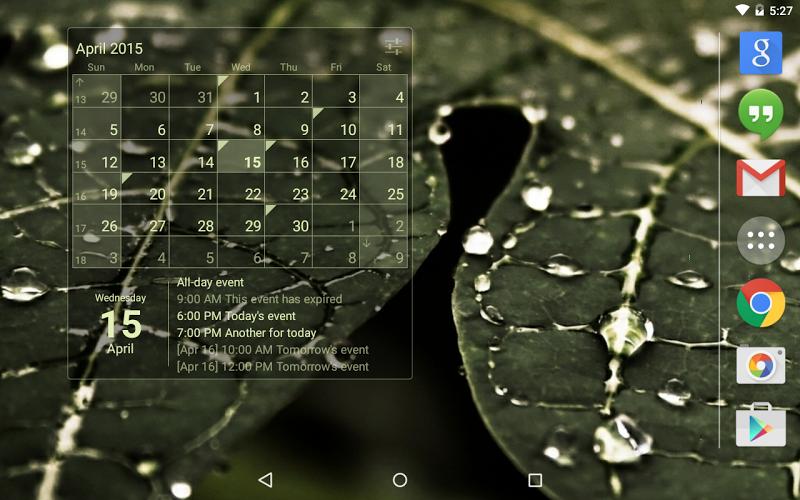 Calendar Widget Month + Agenda Screenshot 7