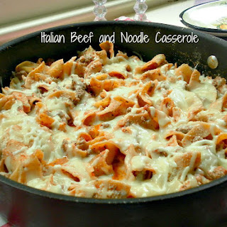 Italian Beef and Noodle Casserole.