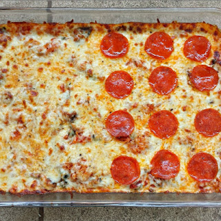 Low Carb Spaghetti Squash Pizza Casserole