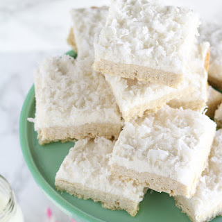 Frosted Coconut Sugar Cookie Bars