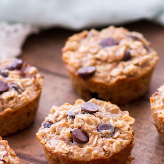 Peanut Butter Banana Chocolate Chip Baked Oatmeal Cups Recipe