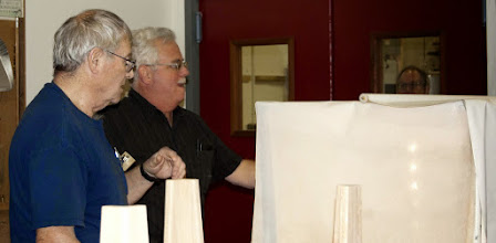 Photo: Jim Allison shuttles Show, Tell & Ask pieces for Jeff Tate to photograph for the Gallery pictures.