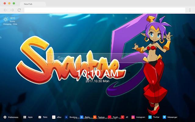shantae5 HD New Tabs Popular Games Themes