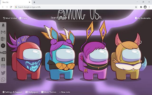 Among Us Wallpaper For Google Chrome image number 16