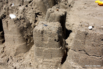 Photo: (Year 3) Day 22 -   Turrets Beginning to Crumble