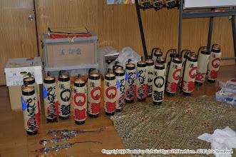 Photo: 【平成23年(2011) 宵々宮】  本年新調した弓張提灯。所定の「い組」だけでなく、震災復興支援の意を込めて「がんばろう日本」の提灯も製作した。