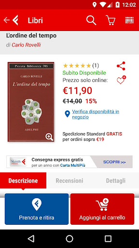 la Feltrinelli mobile 5.5 screenshots 2