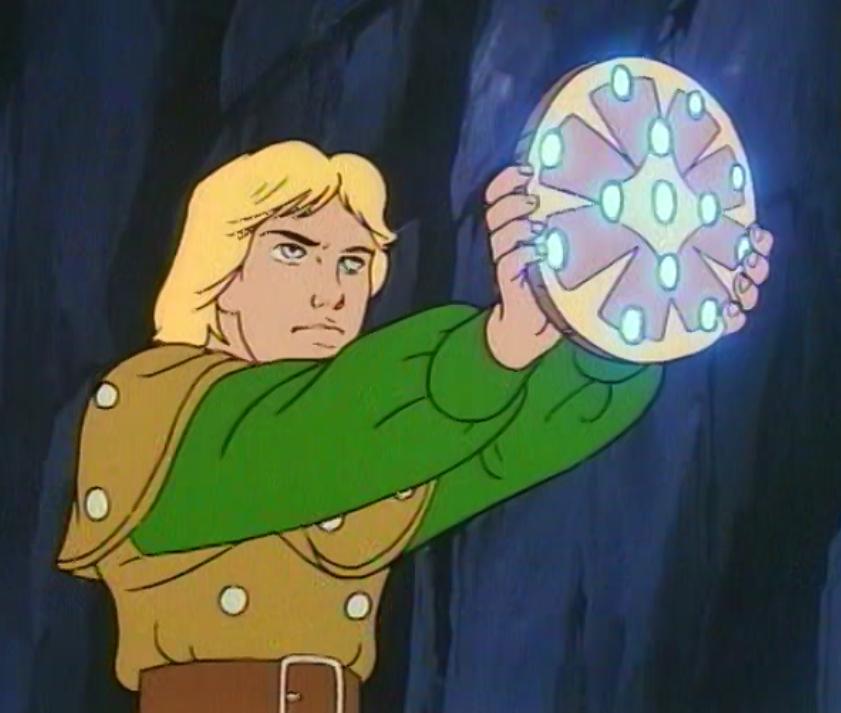 Hank with talisman