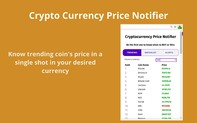 all cryptocurrency prices in inr