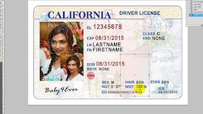 california drivers license template free