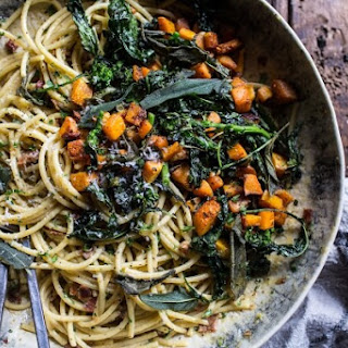Winter Squash Carbonara with Broccoli Rabe and Sage. Recipe