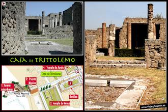 Photo: 6: <b>Casa Trittolemo</b>, nombrada así por el fresco que alberga, en el cual destaca la figura del héroe mitológico encargado de trasmitir el arte de la agricultura.