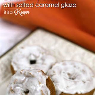 Baked Pumpkin Donuts with Salted Caramel Glaze