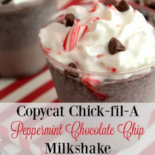Copycat Chick-fil-A Peppermint Chocolate Chip Milkshake