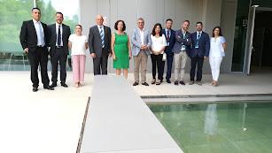 El consejero de Empleo Javier Carnero junto a otras autoridades en el PITA
