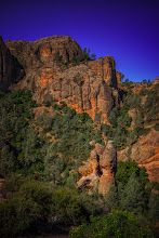Photo: The hike started from the West Entrance, climbing up Juniper Canyon Trail. The park gets its name from the odd, needle shaped rocks like the one in the foreground that dot the landscape.